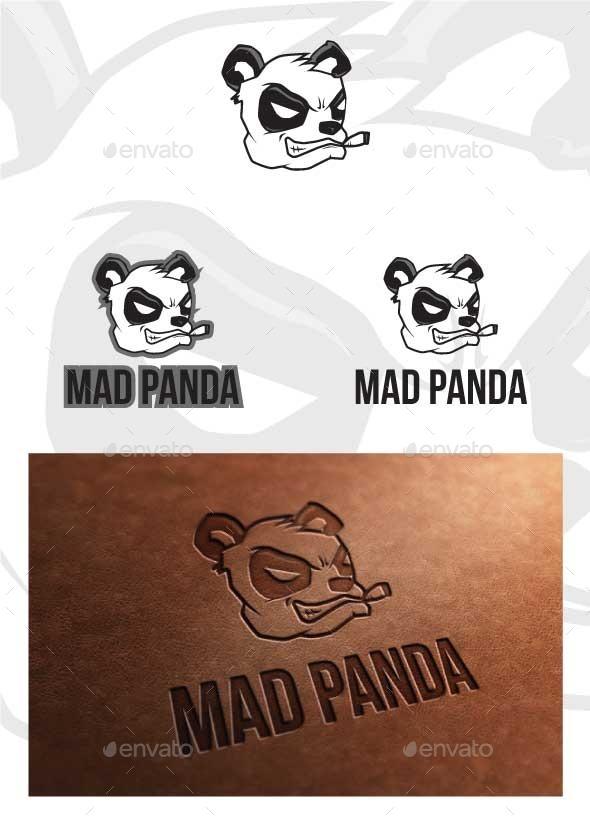 Mad Panda Logo Template - Animals Logo Templates