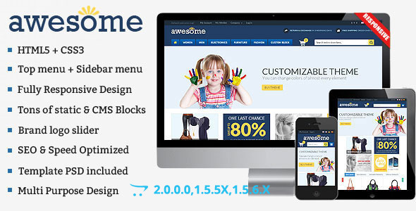 Awesome – Responsive Multipurpose OpenCart Theme