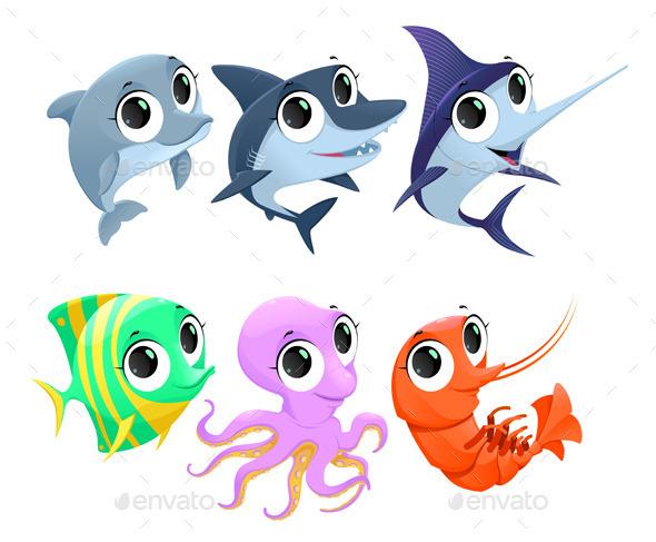 Marine Animals - Animals Characters