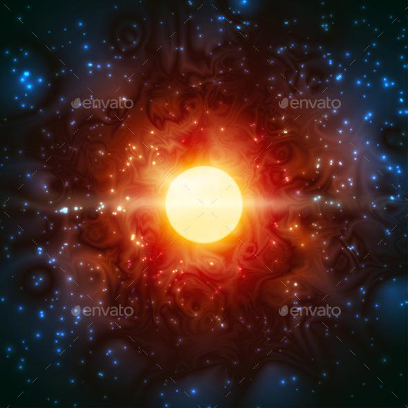 Space Burning Universe  - Backgrounds Decorative