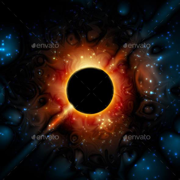 Black Hole Supermassive Gravity Universe - Nature Conceptual
