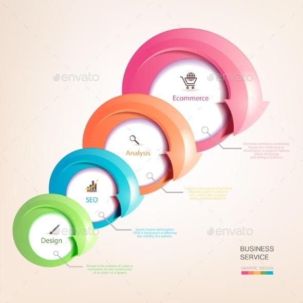 Set of Colorful Arrows - Web Technology