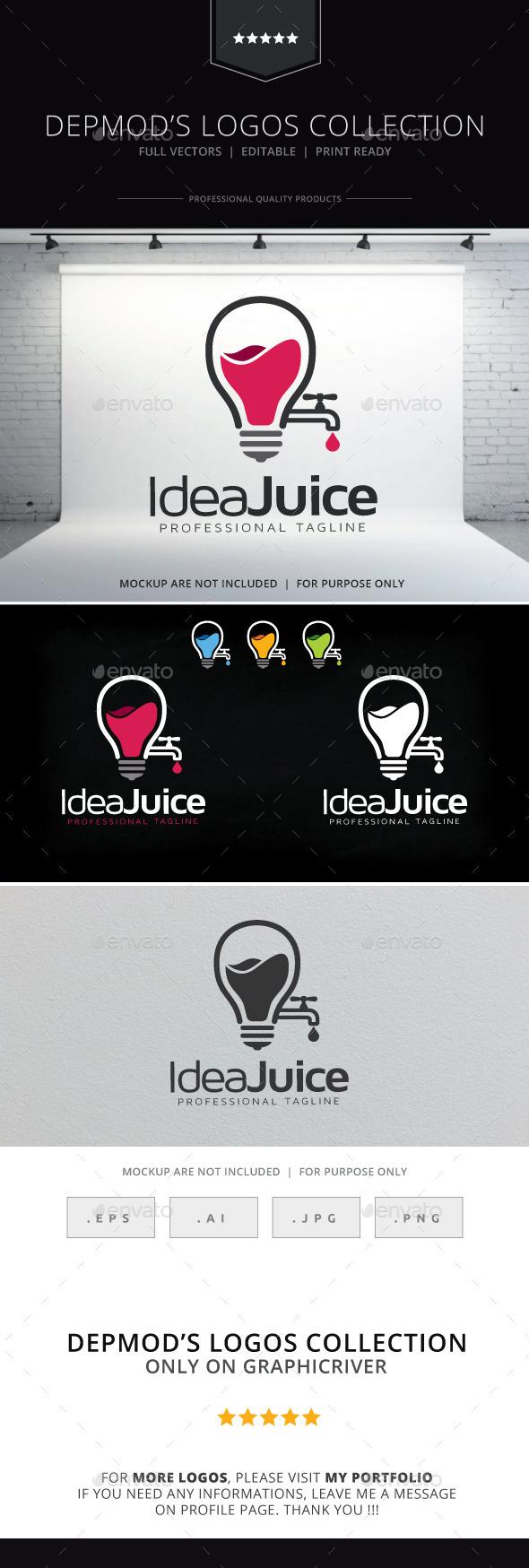 Idea Juice Logo - Symbols Logo Templates