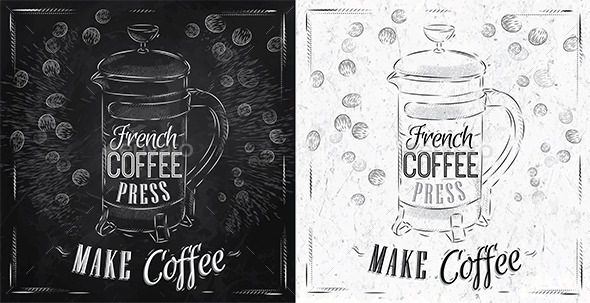 Poster French Coffee - Food Objects