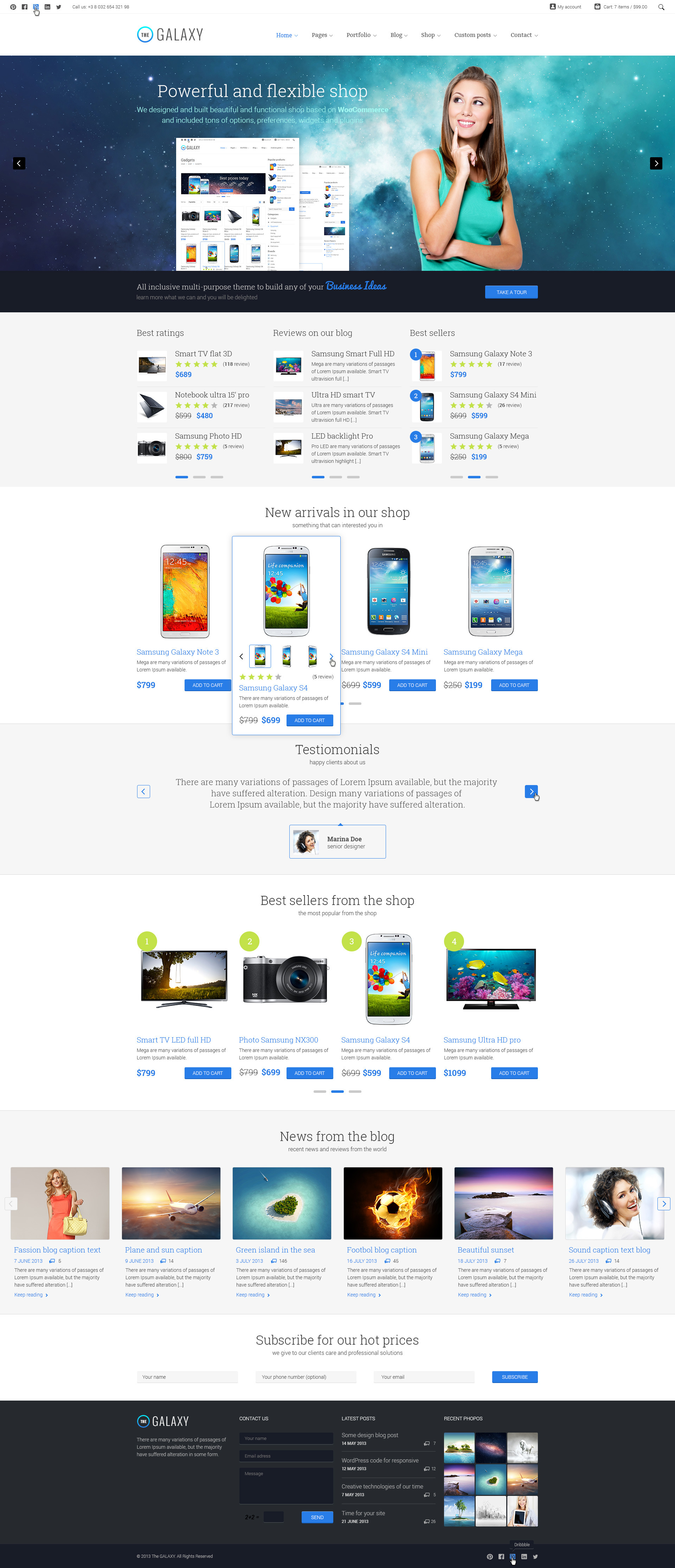 The Galaxy Responsive Multi Purpose Psd Theme By Design