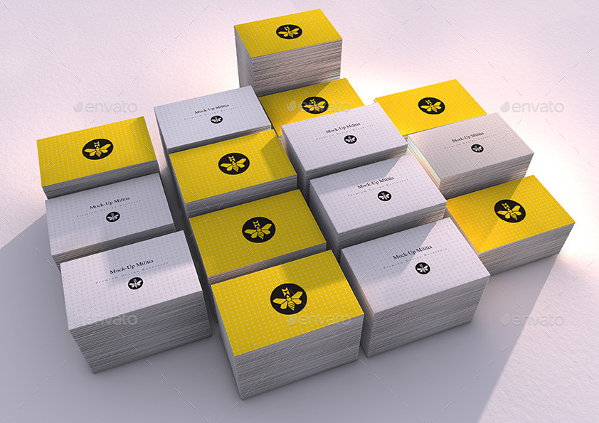 Business Card Stacks | Mock-Up | 85mm x 55mm by Mock-Up-Militia ...
