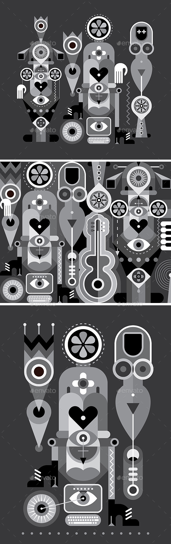 Art Abstract Compositions - Objects Vectors