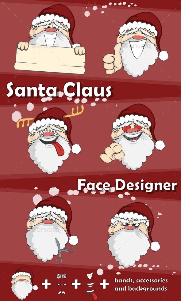 Santa Claus Face Designer - Christmas Seasons/Holidays