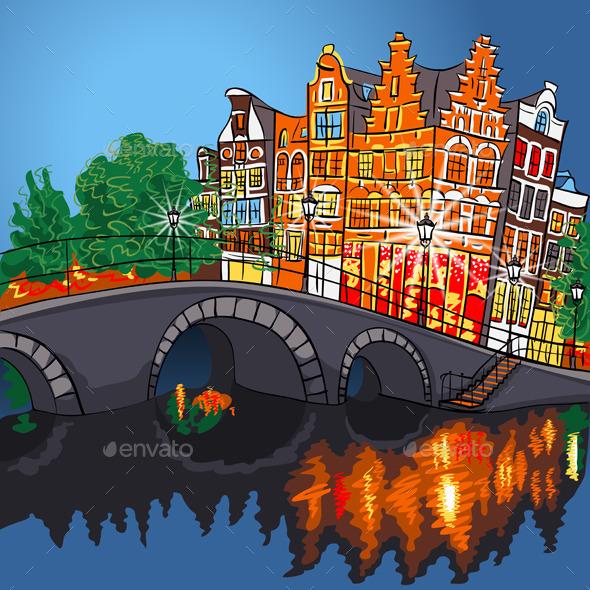 Amsterdam Landscape - Travel Conceptual