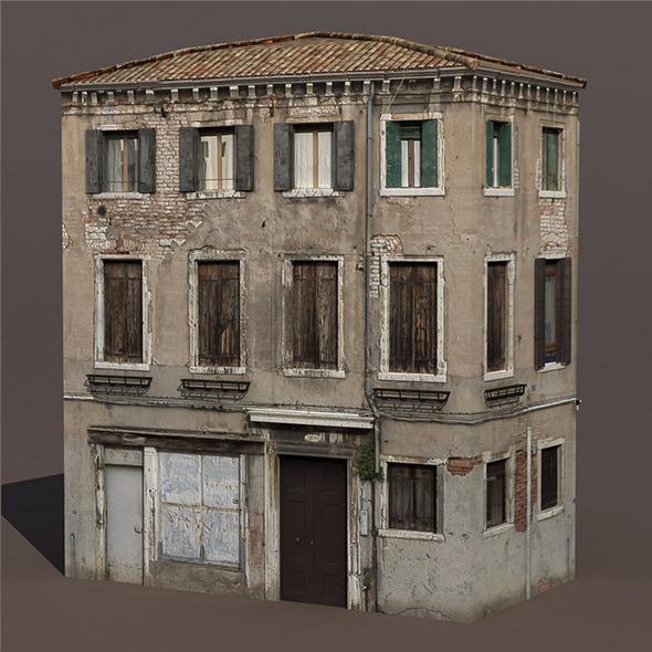 Apartment House #135 Low Poly 3d Building - 3DOcean Item for Sale