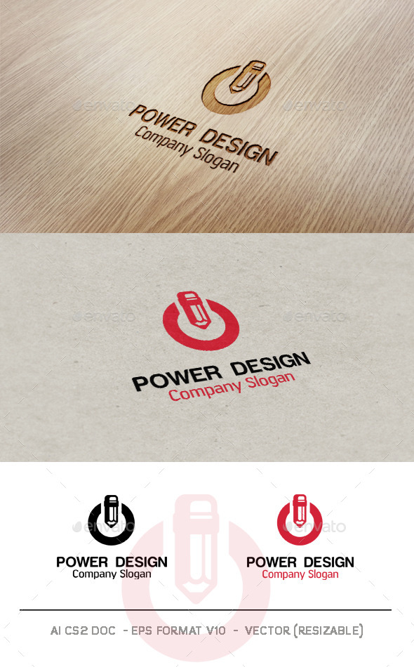 Power Design Logo - Symbols Logo Templates