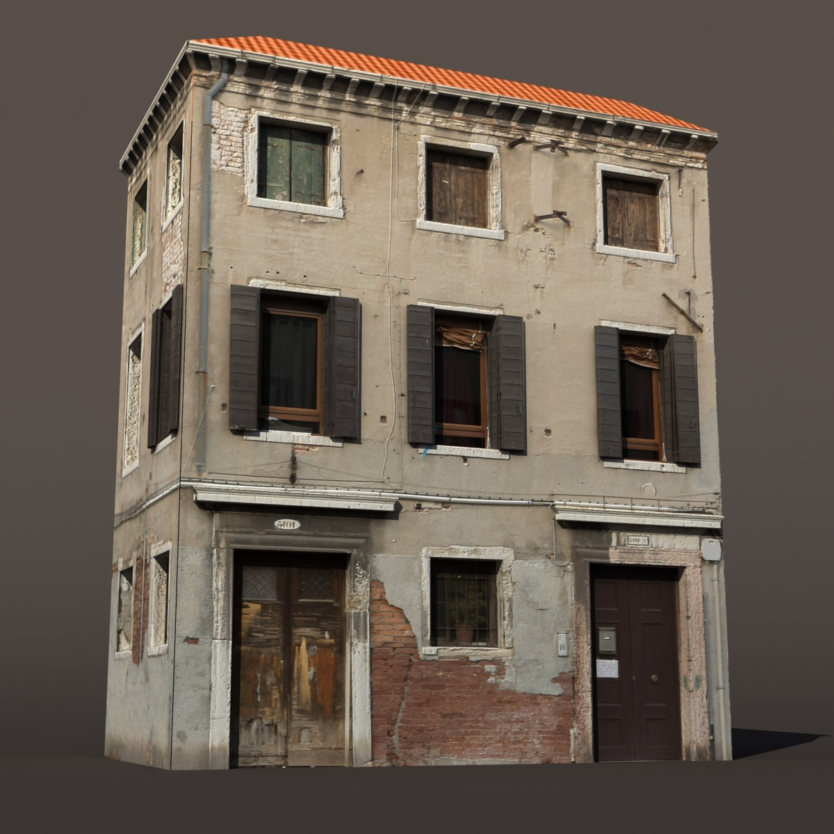 Apartment Building Venice Low Poly
