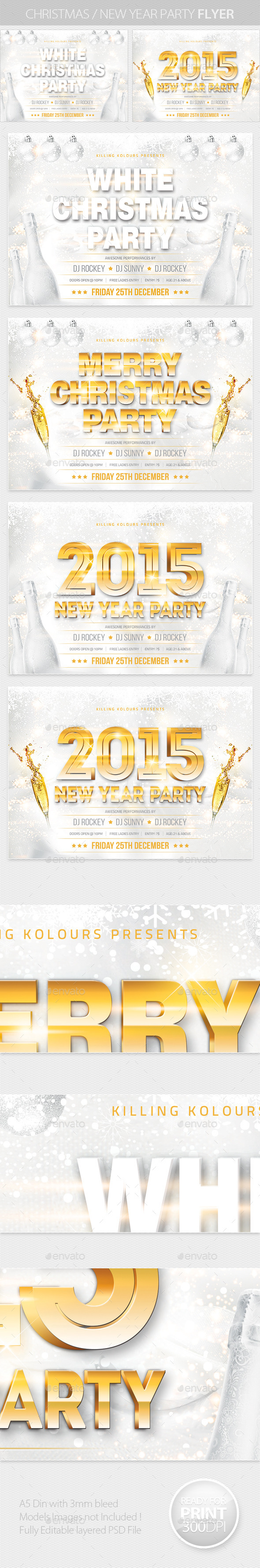 Christmas / New Year Party Flyer - Clubs & Parties Events