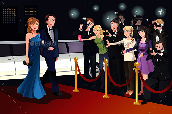 Couple Going to a Red Carpet Event - People Characters