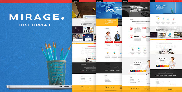 Mirage – Multipages HTML Template