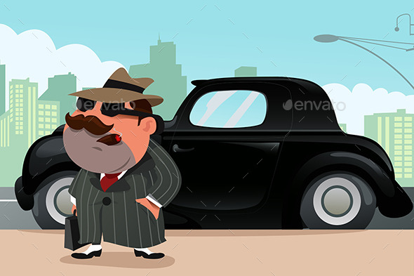 Man Standing in Front of His Car - Business Conceptual