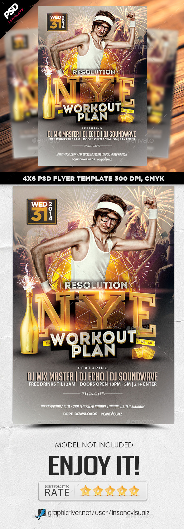 NYE Resolution Workout Plan Flyer - Events Flyers
