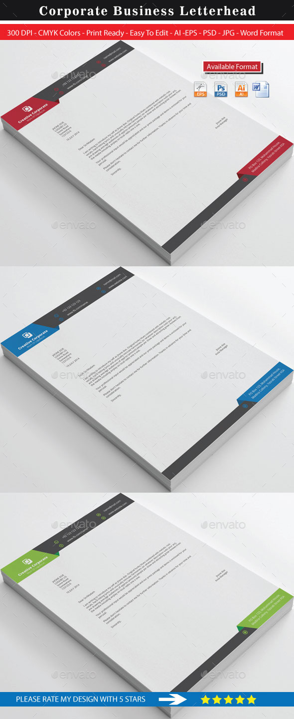 Creative Corporate Real Estate Letterhead By Shujaktk