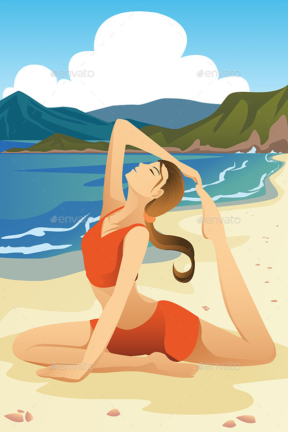 Woman Practicing Yoga - Sports/Activity Conceptual