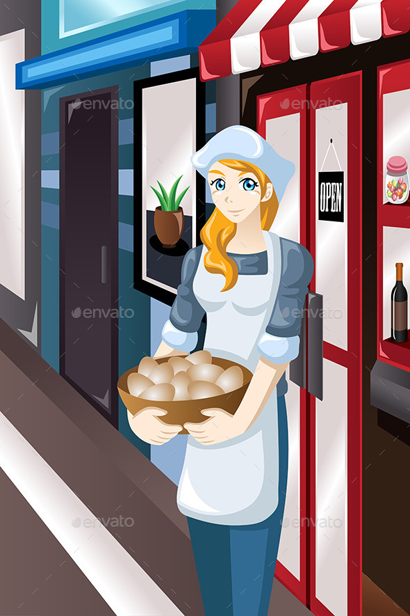 Female Store Owner  - Business Conceptual