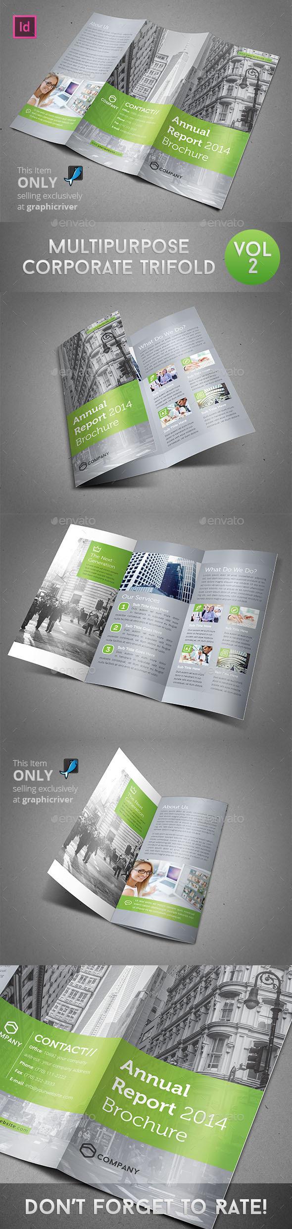Multipurpose Corporate Trifold Vol 2 - Corporate Brochures