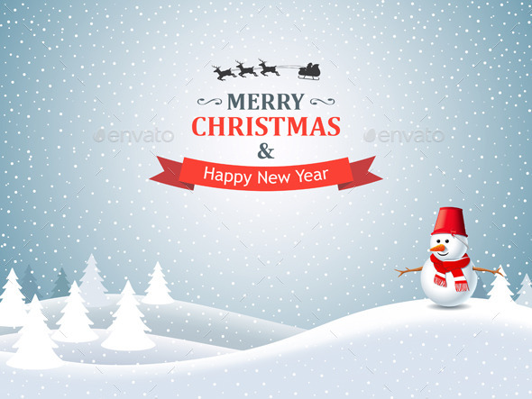 Christmas Winter Landscape - Christmas Seasons/Holidays