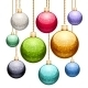 Set of Christmas Balls with Glitter - GraphicRiver Item for Sale
