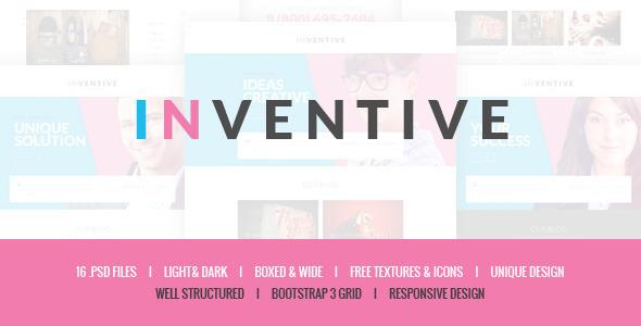 Inventive – Creative PSD Template