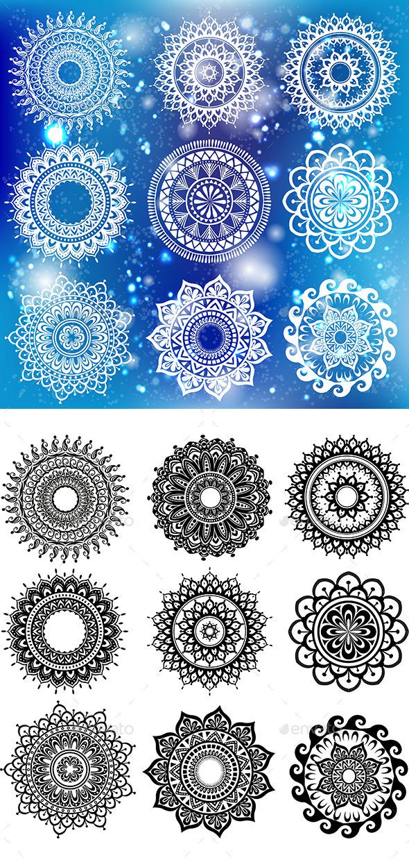 Round Ornament Pattern - Decorative Symbols Decorative