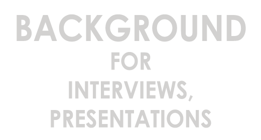 Background for interviews, presentations