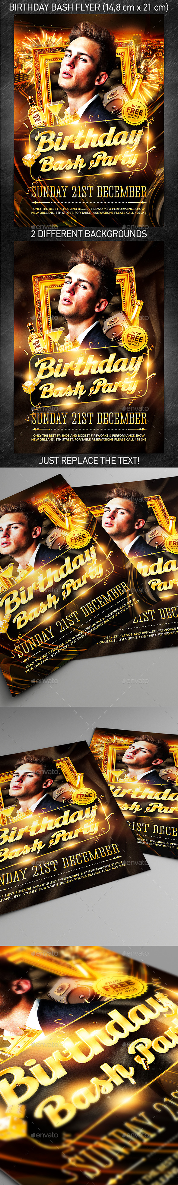Birthday Bash Party Flyer - Flyers Print Templates