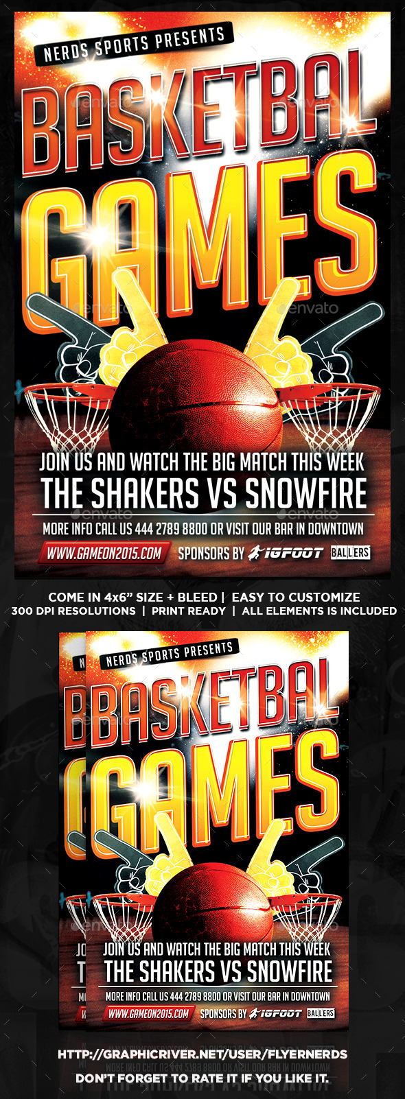 Game On Basketball Sports Flyer - Sports Events