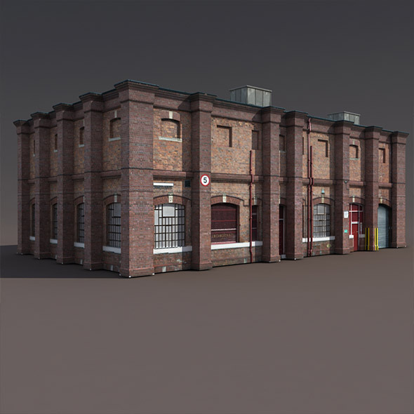 Old Factory Low Poly 3d Building - 3DOcean Item for Sale