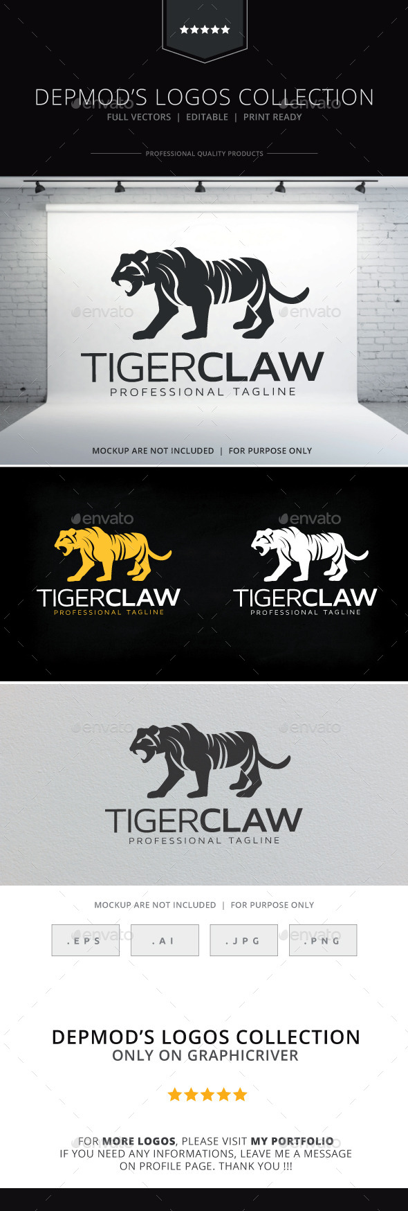 Tiger Claw Logo - Animals Logo Templates
