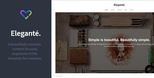 Elegante - Responsive Portfolio HTML Template