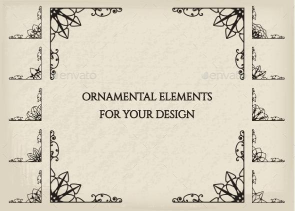 Calligraphic Design Elements - Borders Decorative