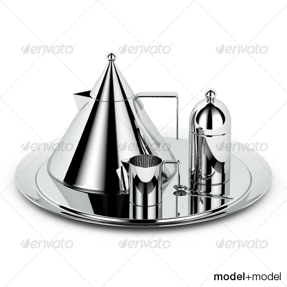 Alessi il conico tea set - 3DOcean Item for Sale