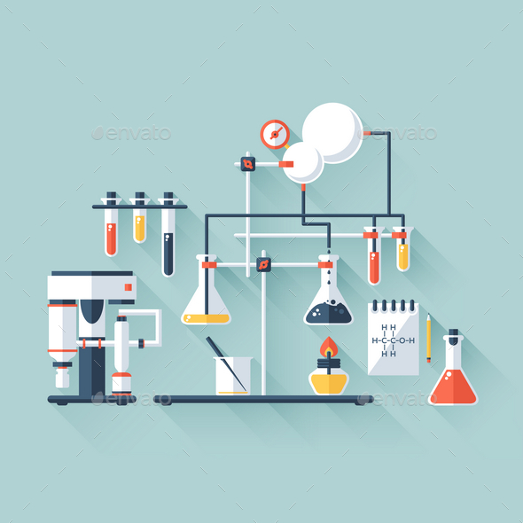 Chemistry Laboratory - Health/Medicine Conceptual