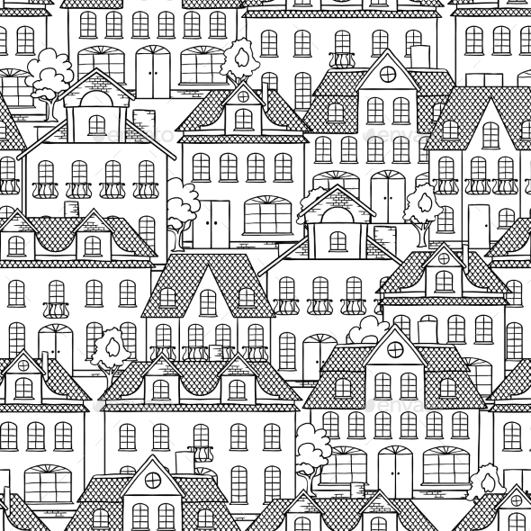 Houses Background - Buildings Objects