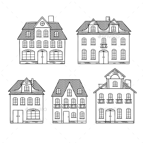 Houses - Buildings Objects