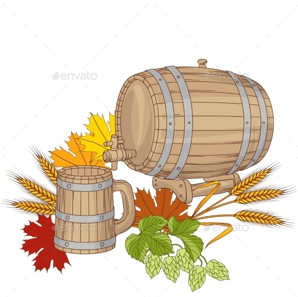 Barrel Background - Food Objects