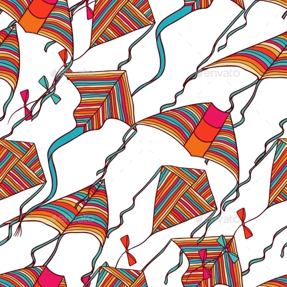 Kites Pattern - Patterns Decorative