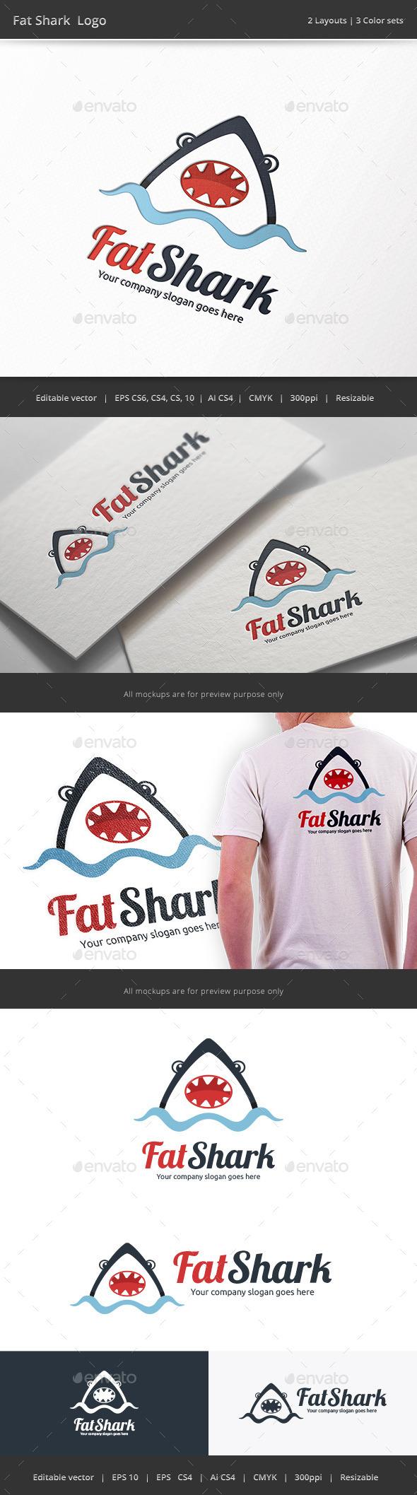 Fat Shark Logo - Animals Logo Templates