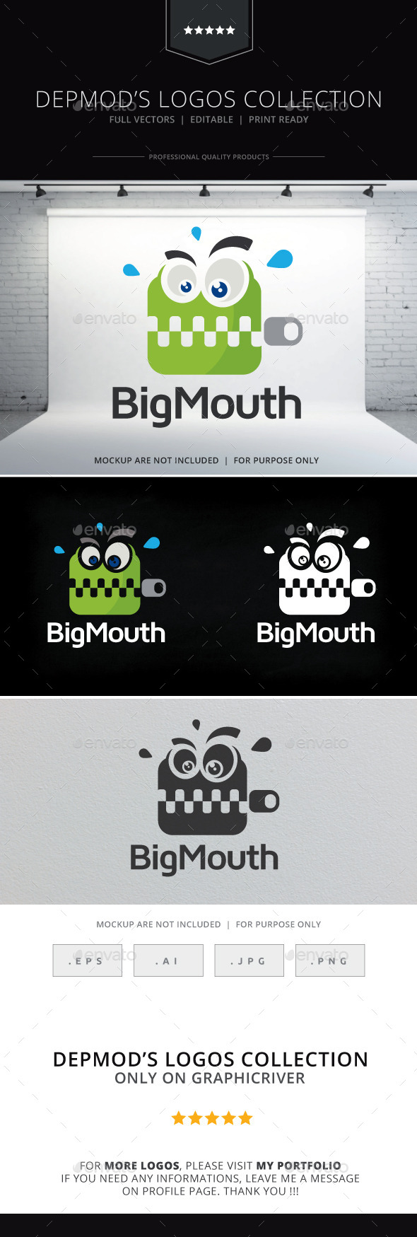 Big Mouth Logo - Objects Logo Templates