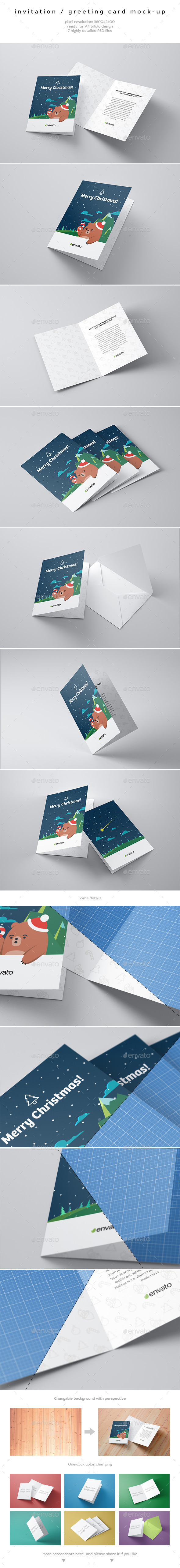 Invitation / Greeting Card Mock-Up  - Miscellaneous Print
