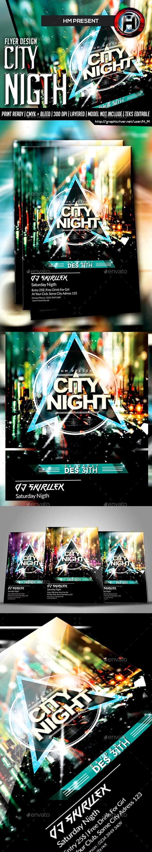 DJ Guest City Futurism Flyer Design - Events Flyers