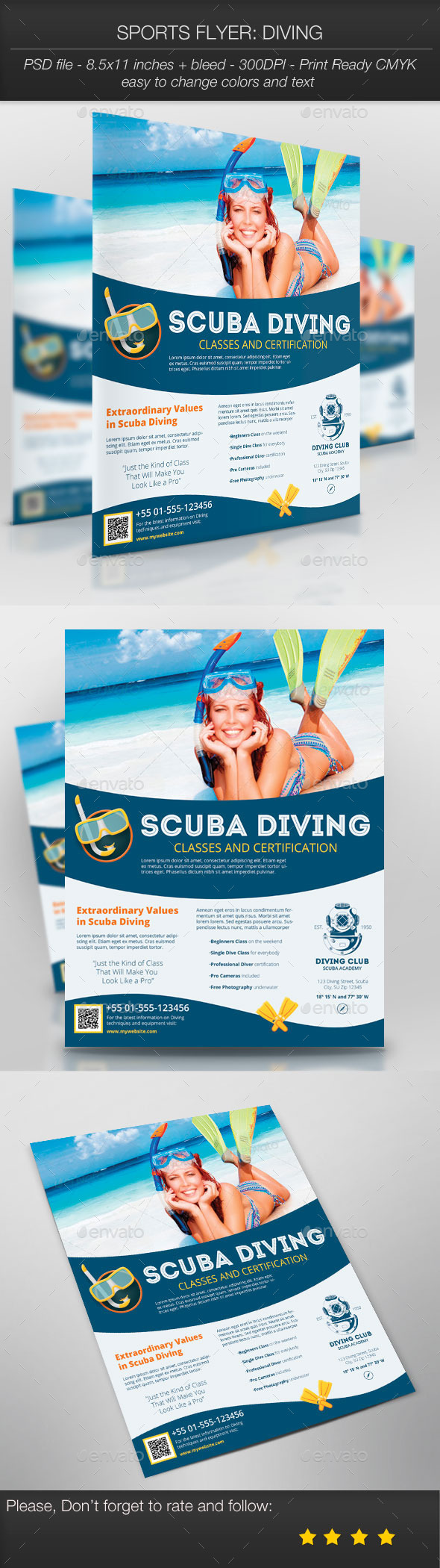 Sports Flyer: Diving - Sports Events