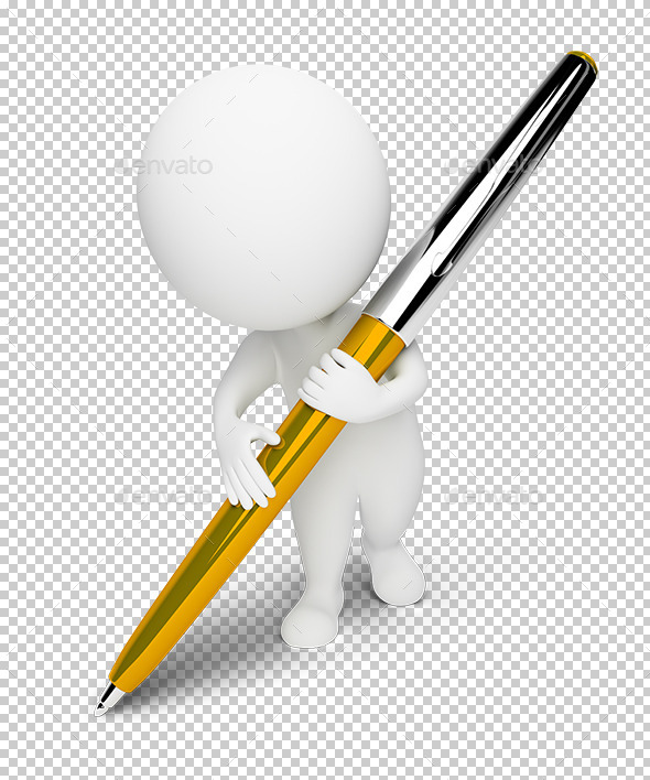 3d small people - pen - Characters 3D Renders