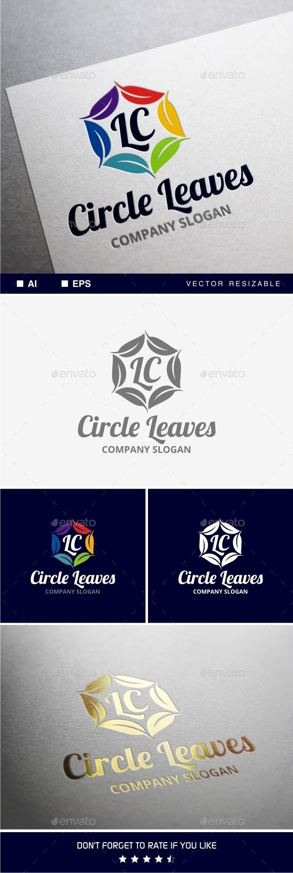Circle Leaves Logo - Nature Logo Templates