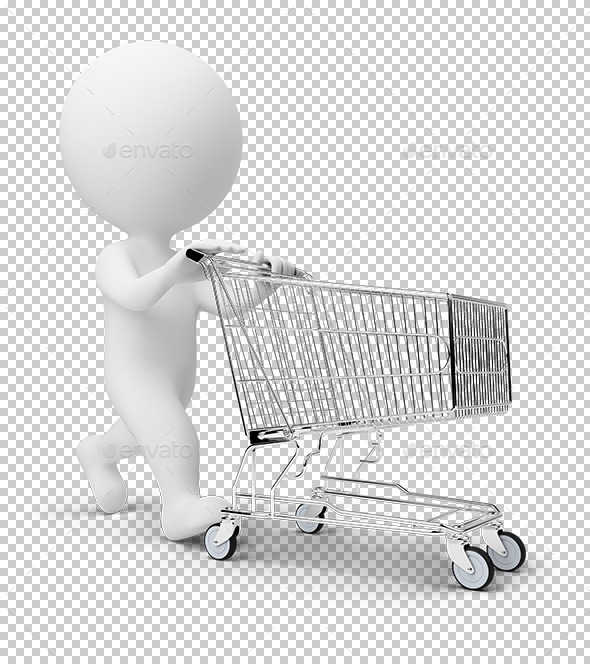 3D Small People - Cart - Characters 3D Renders
